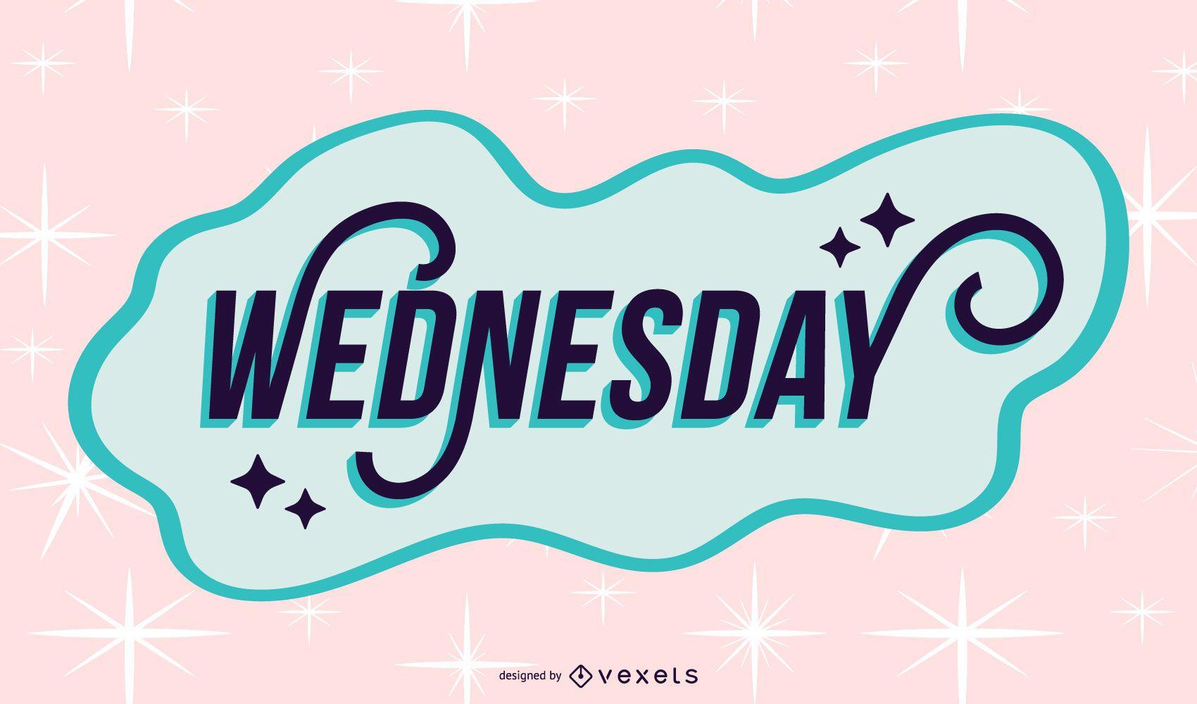 Wednesday lettering design