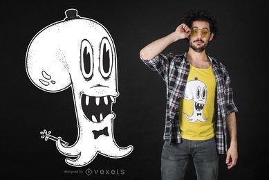 Diseño de camiseta mago pulpo.