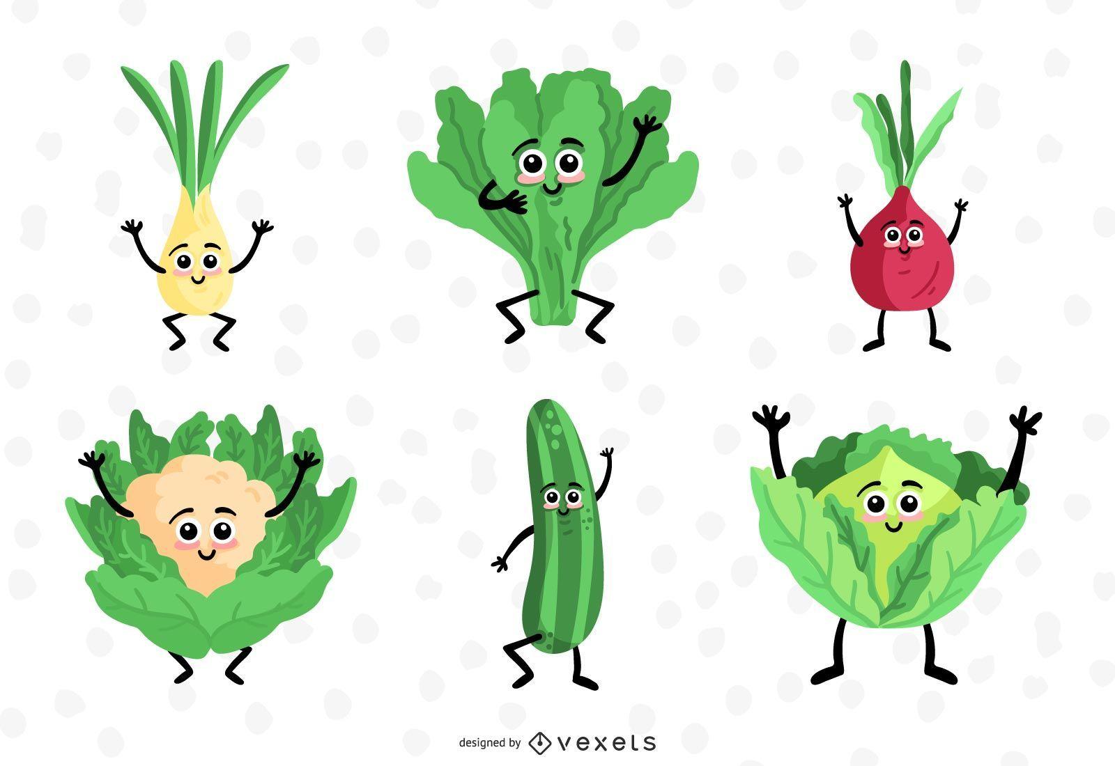 Conjunto de colección de diseño vegetal