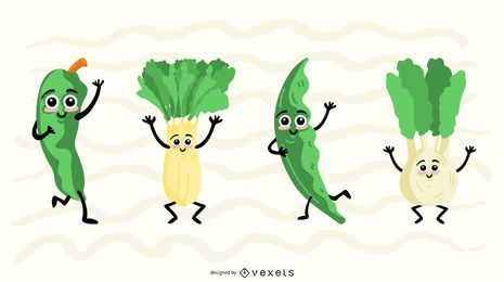 Conjunto de colección de vectores vegetales