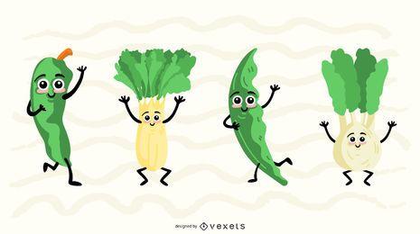 Gemüse Vektor Sammlungssatz