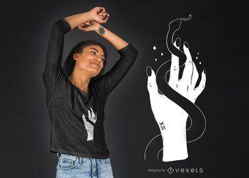 Diseño de camiseta de serpiente de mano.