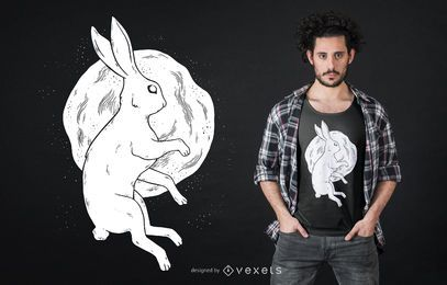 Moon rabbit t-shirt design