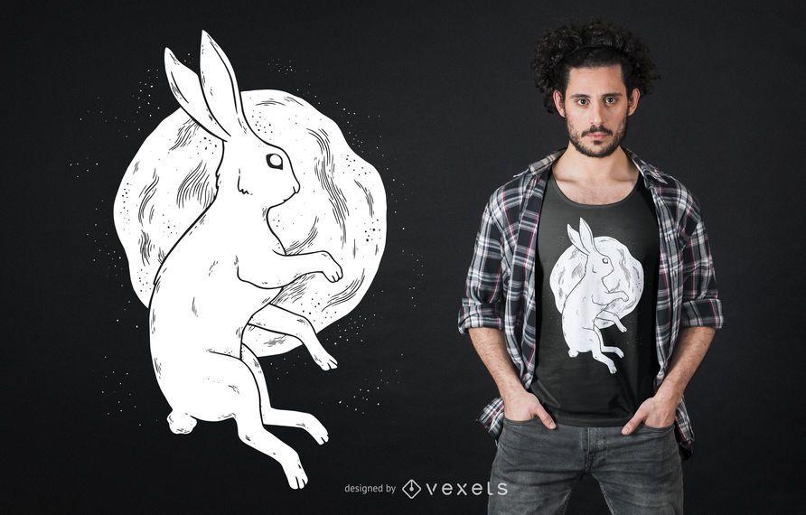Projeto do t-shirt do coelho da lua