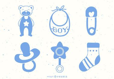 Baby Boy Element Vector Set