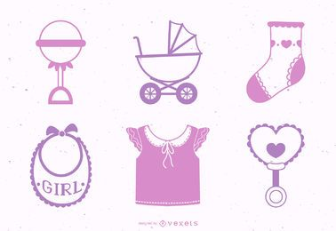 Paquete de elementos de diseño para niña