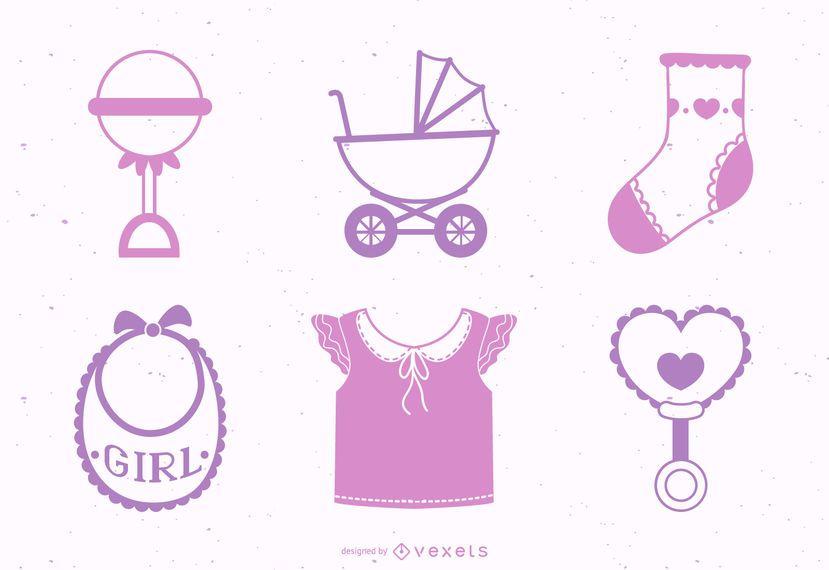 Baby Girl Design Element Pack