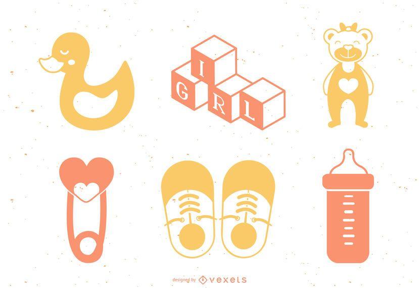 Baby Girl Element Design Pack