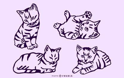 Kätzchen Schlaganfall gesetzt