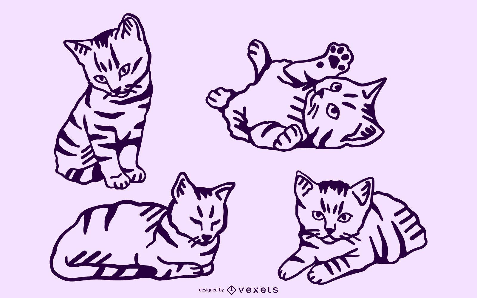 Kitten stroke set