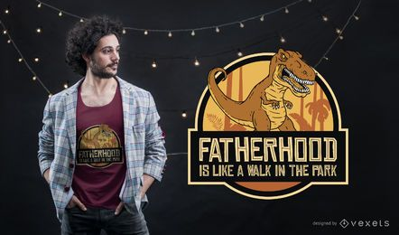 Fatherhood T-rex T-shirt Design