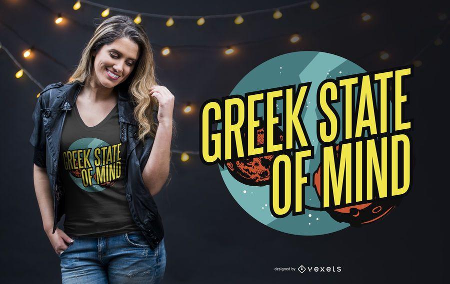 Diseño de camiseta griega letras