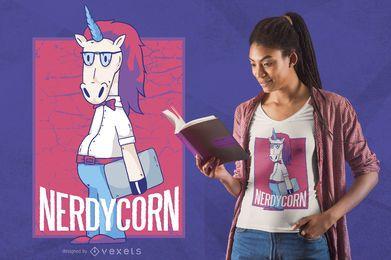 Diseño de camiseta Nerd Unicorn
