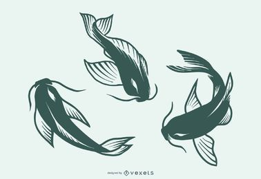 Fish Silhouette Tattoo Design Collection