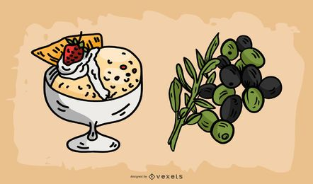 Italian Food Illustration Vector Pack