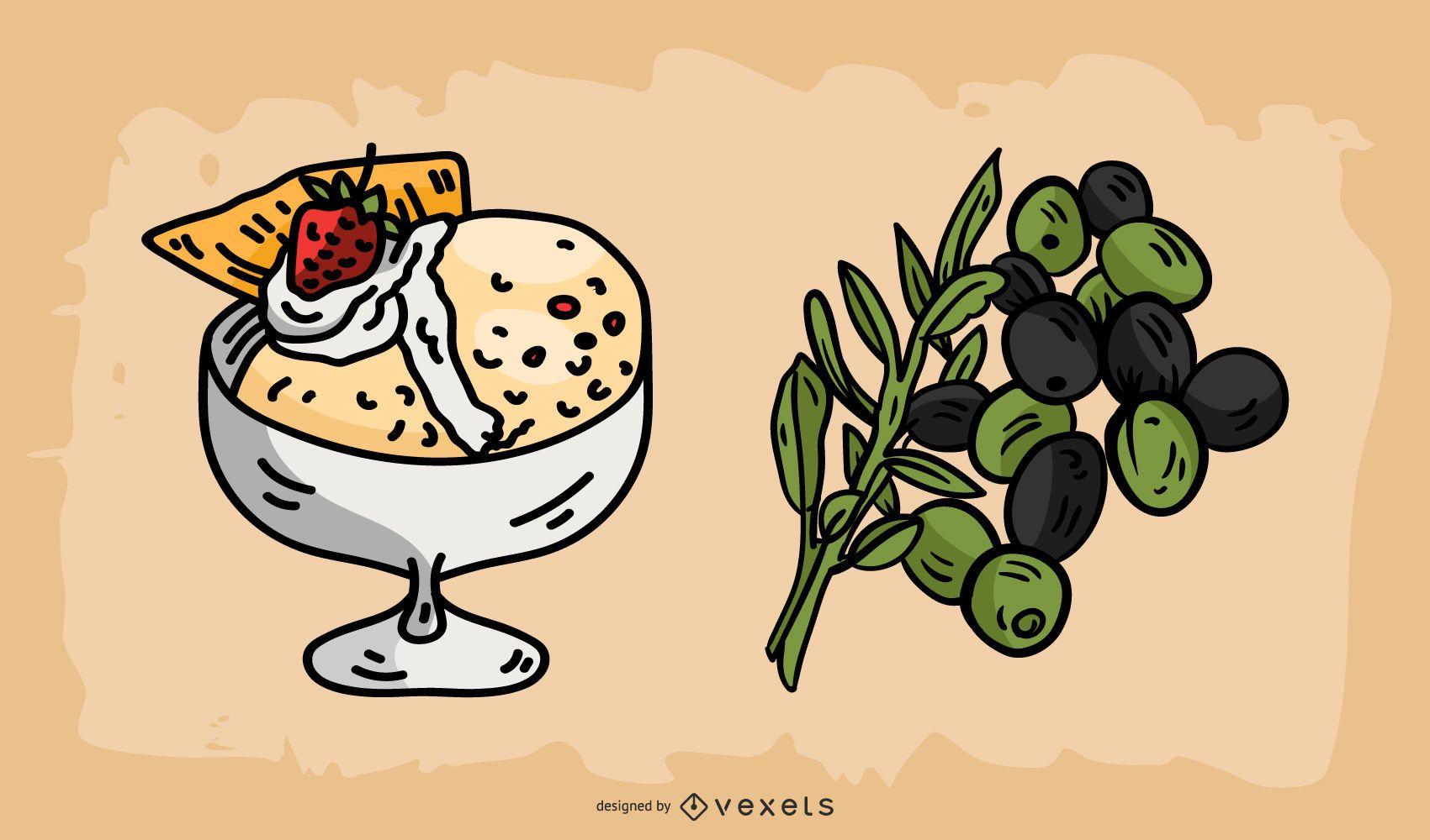 Italian Food Illustration Vector Pack