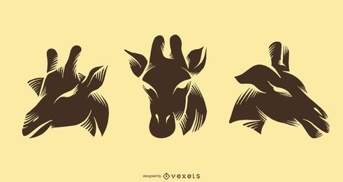 Giraffe Silhouette Tattoo Design Collection