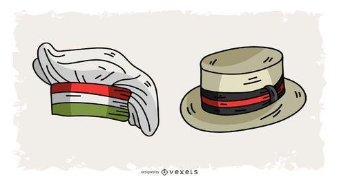 Design de chapéus italianos