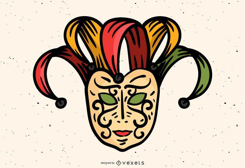 Design de máscara de carnaval veneziano