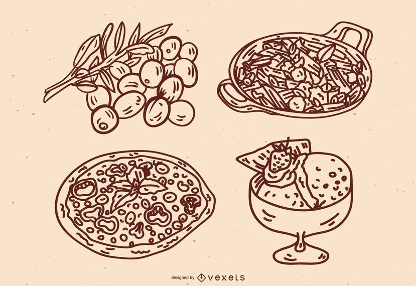 Italian Cuisine Stroke Set