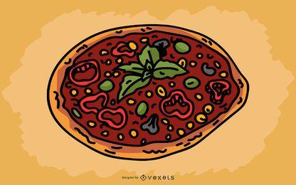 Design de pizza italiana