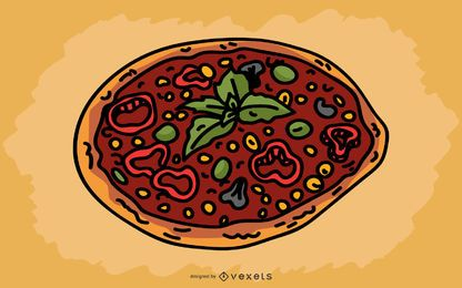 Diseño de pizza italiana