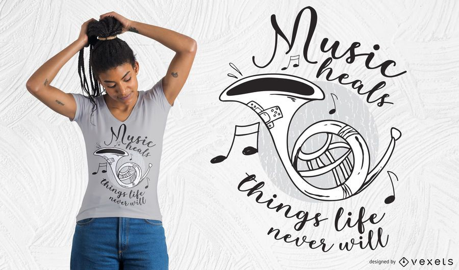 Music heals t-shirt design