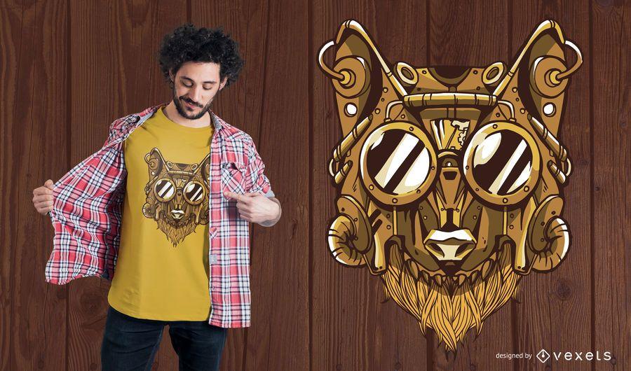 Steampunk Wolf T-Shirt Design