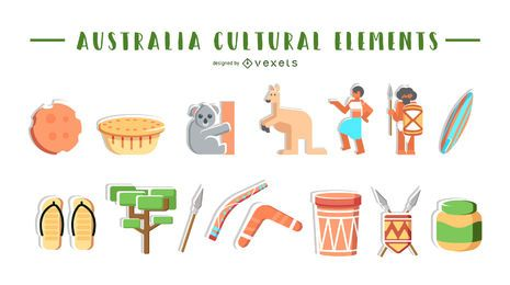 Australia cultural elements collection