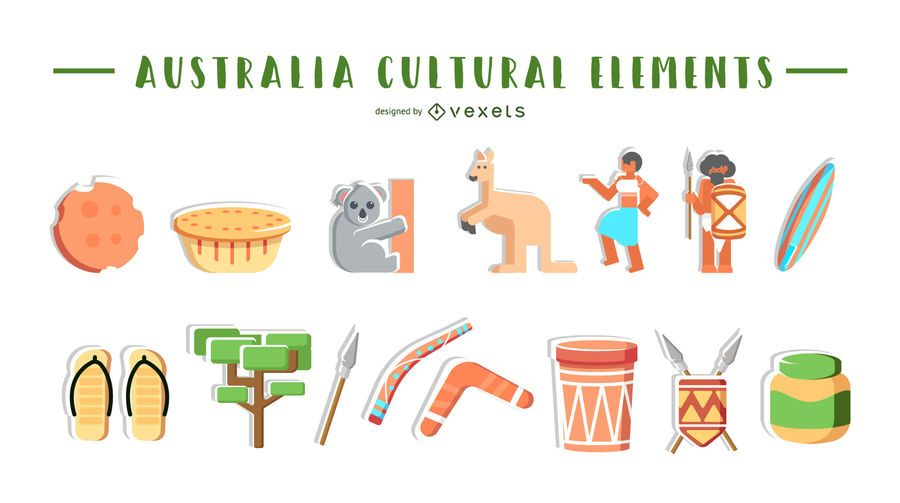 Australia cultural elements collection