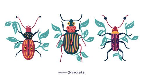 WARM BUGS VECTOR DESIGN