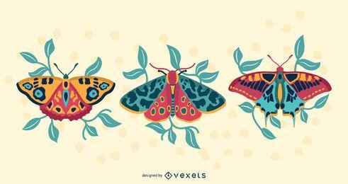 Diseño de mariposas coloridas