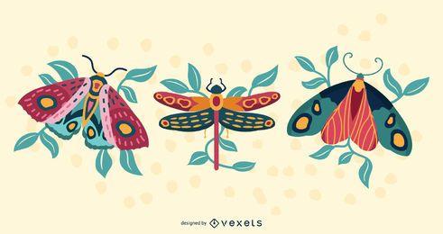 Künstlerische Insektenillustration
