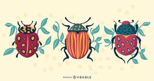 Diseño de vectores de escarabajos