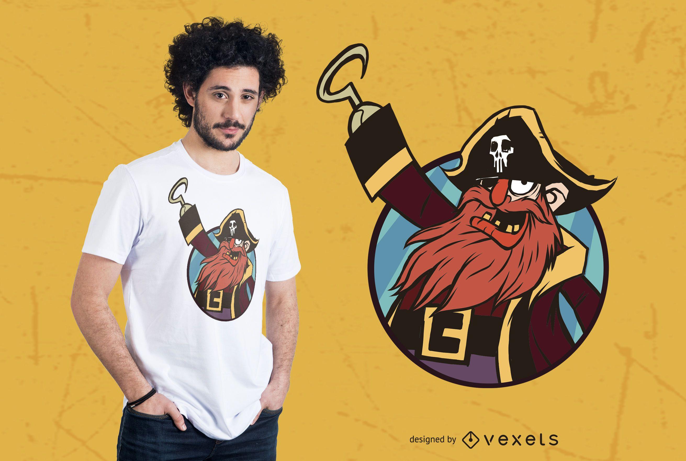 Pirate Illustration T-shirt Design