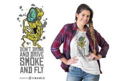 Cannabis Smoking Schriftzug T-Shirt Design