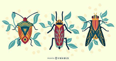 Arte vectorial escarabajo