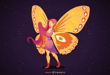 FAIRY FLY ILLUSTRATION