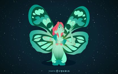 Night fairy illustration