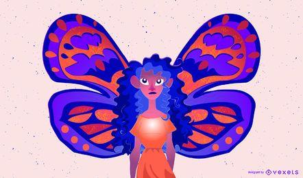 Hada mosca colorida ilustración