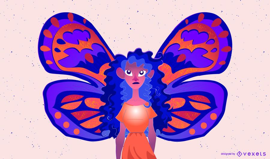 FAIRY FLY COLORFUL ILLUSTRATION