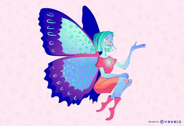SASSY FAIRY FLY ILLUSTRATION