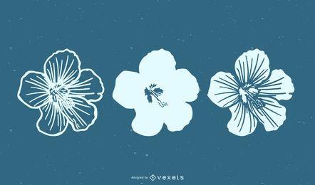 Vetor de conjunto de flores mínimas