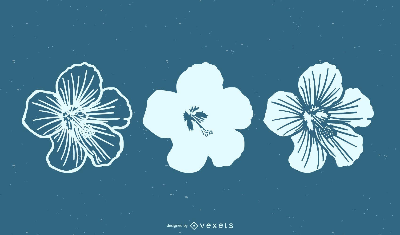 Minimal Flower Set Vector