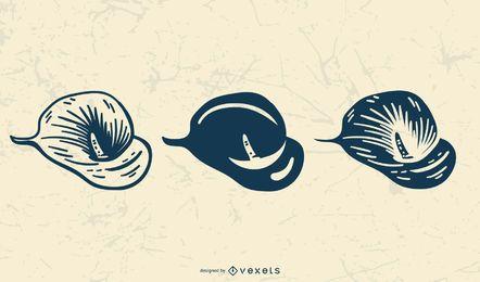 Zarte Blume Vektorgrafiken