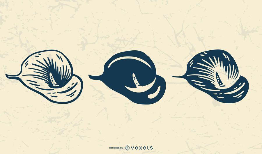 Flor delicada arte vectorial