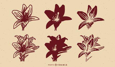 Diseño floral vector art