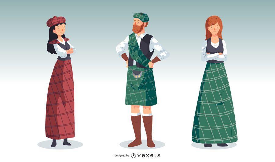 Ilustração do espírito escocês