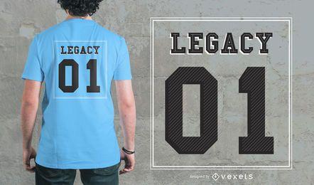 Schriftzug mit Nummer T-shirt Design