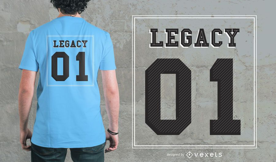 Lettering With Number Design de camisetas